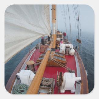 Sailing Boundary Pass Square Sticker