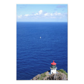 Sailing by Makapu'u Lighthouse Photo Print