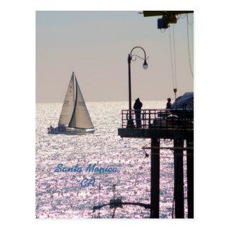 Sailing by Santa Monica, Santa Monica, CA Postcard