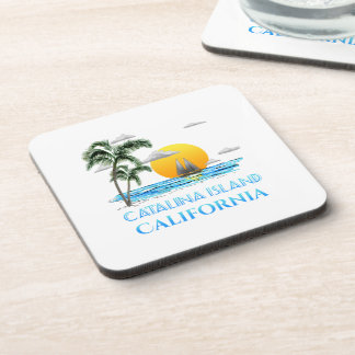 Sailing Catalina Island California Sailboat Coaster