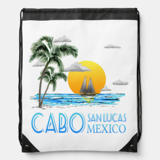 Sailing Catalina Island California Sailboat Drawstring Bag