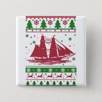 Sailing Christmas 15 Cm Square Badge