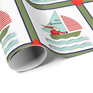 Sailing Christmas Wrapping Paper