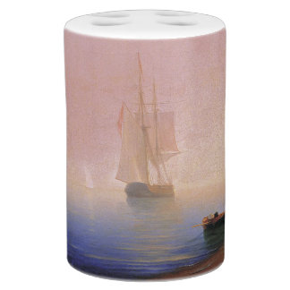 Sailing Clipper Ship Ocean Beach Bath Set