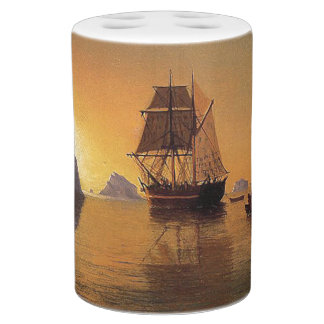 Sailing Clipper Ship Ocean North Bath Set