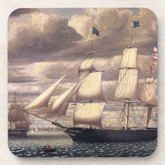 Sailing Clipper Ship Ocean Seas Coaster