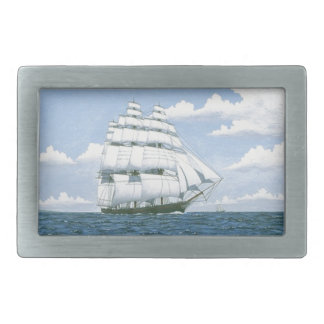 Sailing Clipper Ship Sailboat Sea Mens Belt Buckle
