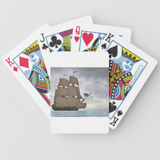 Sailing Corvette on a Gorgeous Day Bicycle Playing Cards