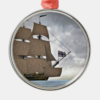 Sailing Corvette on a Gorgeous Day Metal Ornament
