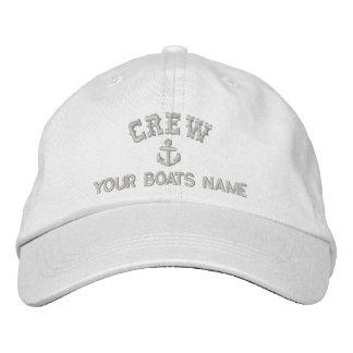 Sailing crew embroidered baseball cap