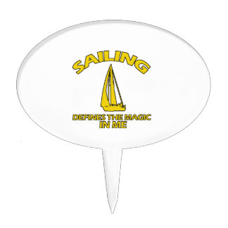 SAILING DESIGNS CAKE TOPPERS
