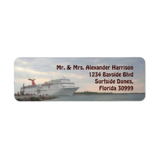 Sailing  from Port Canaveral Label Return Address Label
