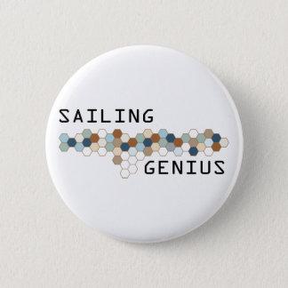 Sailing Genius 6 Cm Round Badge
