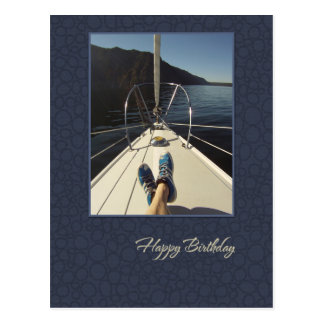 Sailing Happy Birthday Postcard