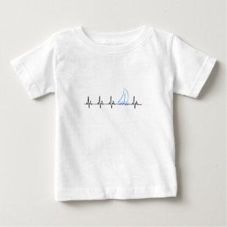 Sailing Heartbeat Funny Sailboat Baby T-Shirt
