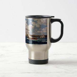 Sailing in a rough sea coffee mugs