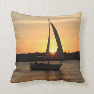 Sailing in Cardiff Bay at Sunset. Cushion