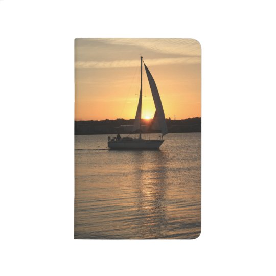 Sailing in Cardiff Bay at Sunset. Journal