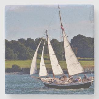 Sailing In Newport, Rhode Island, USA Stone Coaster