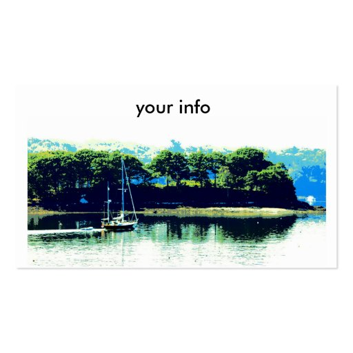sailing in paradise business card business card templates