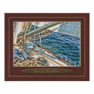 sailing in rough weather poster