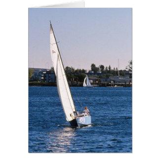 Sailing in San Diego Harbor Greeting Card