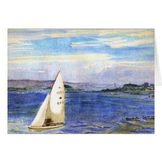 Sailing in San Francisco Bay Card