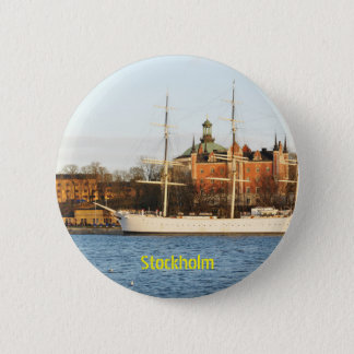 Sailing in Stockholm, Sweden 6 Cm Round Badge