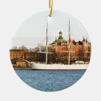 Sailing in Stockholm, Sweden Ceramic Ornament