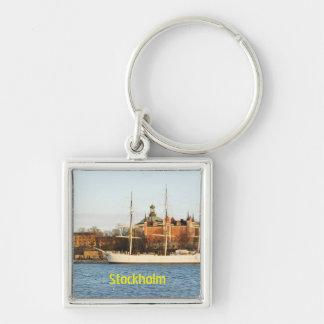 Sailing in Stockholm, Sweden Key Ring