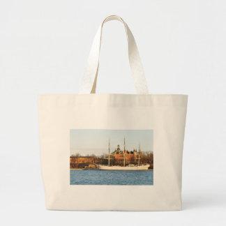 Sailing in Stockholm, Sweden Large Tote Bag