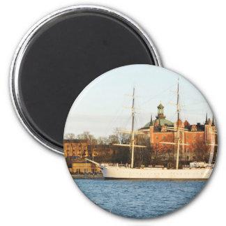 Sailing in Stockholm, Sweden Magnet