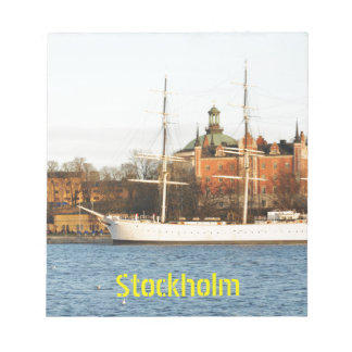 Sailing in Stockholm, Sweden Notepad