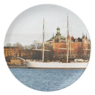 Sailing in Stockholm, Sweden Plate