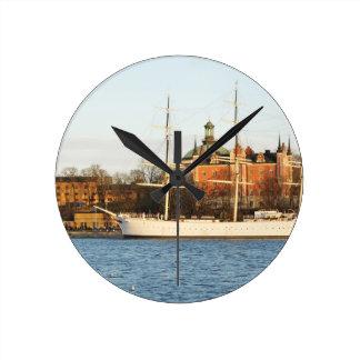 Sailing in Stockholm, Sweden Round Clock