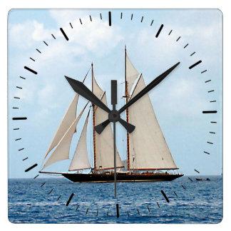 Sailing in the British Virgin Islands Square Wall Clock