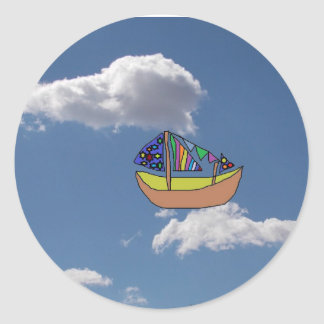 Sailing in the clouds Sticker