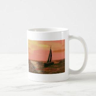 Sailing in the Orange Sky Coffee Mugs