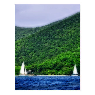 Sailing in US Virgin Islands Postcard