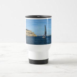 Sailing in Valletta harbour, Malta Travel Mug