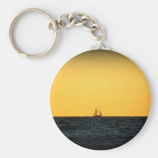 Sailing in Venice 2 Basic Round Button Key Ring