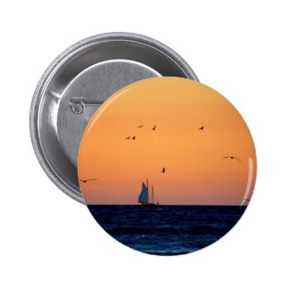 Sailing in Venice 6 Cm Round Badge