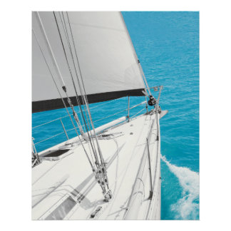 SAILING INTO THE BLUE Poster Wall Art