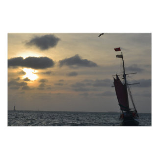 Sailing into the Sunset Stationery