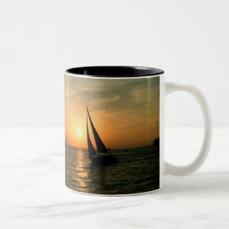 Sailing Into the Sunset Two-Tone Coffee Mug
