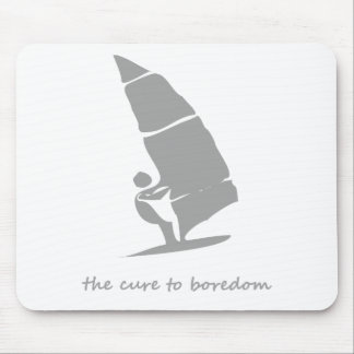 Sailing is the cure to boredom mouse pad