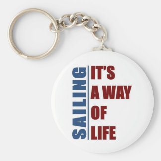 Sailing its a way of life key ring