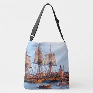 Sailing Masted Frigate Ship Ocean Harbor Tote Bag