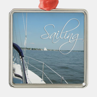 Sailing Metal Ornament