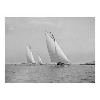 Sailing Near Marblehead, 1901 Poster